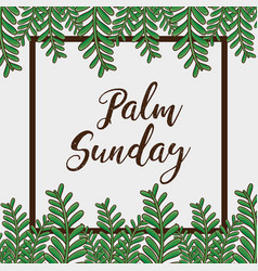 Sunday palm branches religion background vector