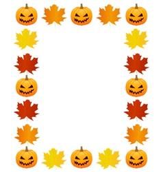 Autumn photo frame vector image vector image