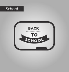 Black and white style icon back to school board vector
