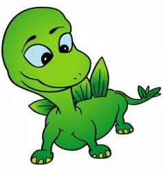 green dino vector image vector image