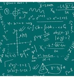 handwritten pattern with mathematics theme vector image