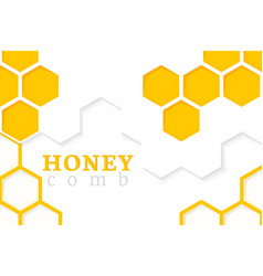 honeycomb background of geometric vector image vector image