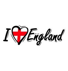 I Love England vector image vector image