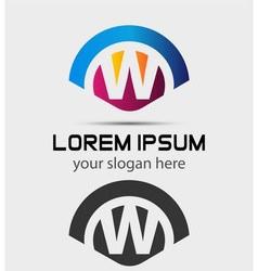 Letter W Logo Design Creative Symbol of letter W vector image vector image
