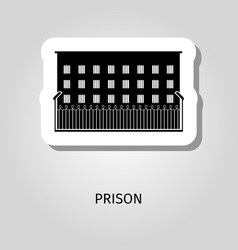prison black building sticker vector image vector image
