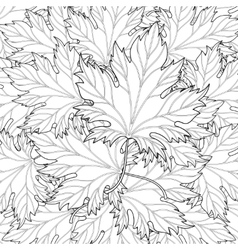 Zentangle stylized autumn fall leaves background vector image vector image