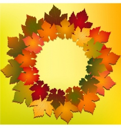 autumn leaf backgroundr vector image vector image