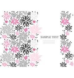 Cute pink seamless floral background vector image vector image