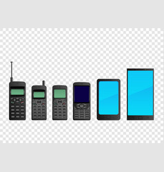 evolution mobile phone smartphone vector image