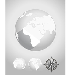 Flat design earth vector
