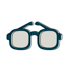 glasses and mustache funny mask vector image