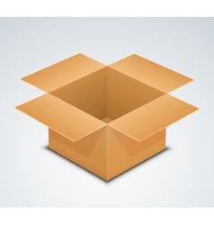 Open box Recycle brown paper box packaging vector image vector image