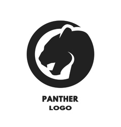 Silhouette of the panther logo vector image
