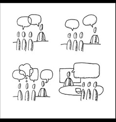 business discussion situations vector image