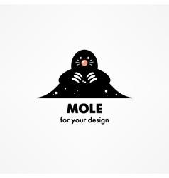 Cute cartoon mole vector image vector image