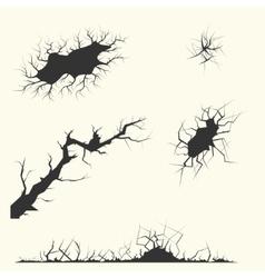 different cracks Set vector image