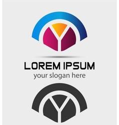 Letter Y Logo Design Creative Symbol of letter Y vector image vector image