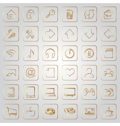 set of flat icons for e-commerce web site vector image