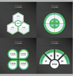template design 4 item neon green color vector image vector image