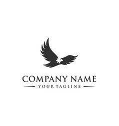 abstract eagle flying logo template vector image