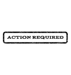 action required watermark stamp vector image