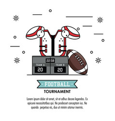 American football tournament infographic vector