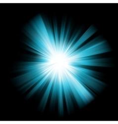 Blue burst color design vector image