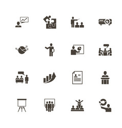 business presentation - flat icons vector image