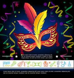 cartoon carnival bright template vector image