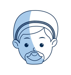 Cartoon face joseph manger character line vector
