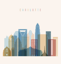 Charlotte state north carolina skyline vector
