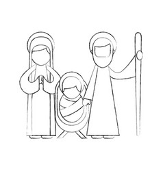 Christmas nativity scene holy family jesus mary vector