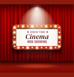 Cinema theater frame retro vector