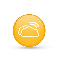 Clouds with Wifi symbol vector image