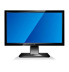 Computer wide flat screen monitor vector