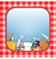 Cooking kitchen background vector