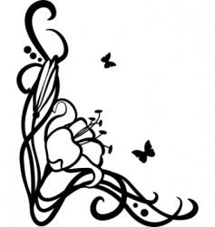 corner Art Nouveau style vector image
