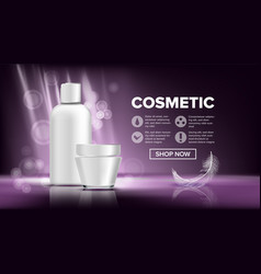 cosmetic bottle package sale flyer empty vector image