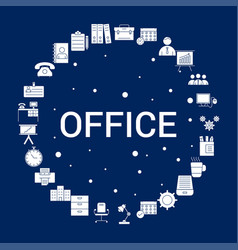 Creative office icon background vector
