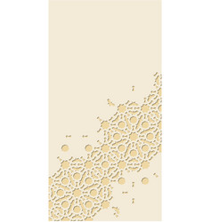 Cut out paper template card for invitation vector