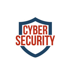 cyber security shield icon or logo isolated on vector image