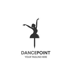 dance icon concept ballet body studio design vector image