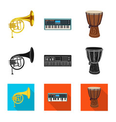 design of music and tune logo collection vector image