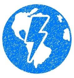 Earth Shock Grainy Texture Icon vector