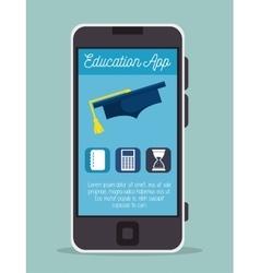 Education online smartphone app design vector
