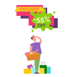 Exclusive -55 off poster on vector
