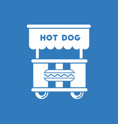 Fast food hot dog cart and street hot dog cart vector