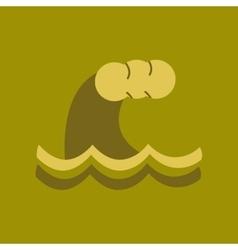 Flat icon on stylish background nature tsunami vector