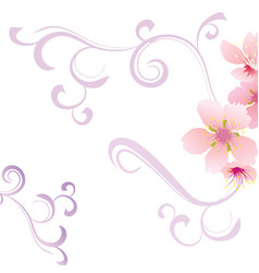 Floral background with flower vector