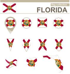 Florida flag collection vector